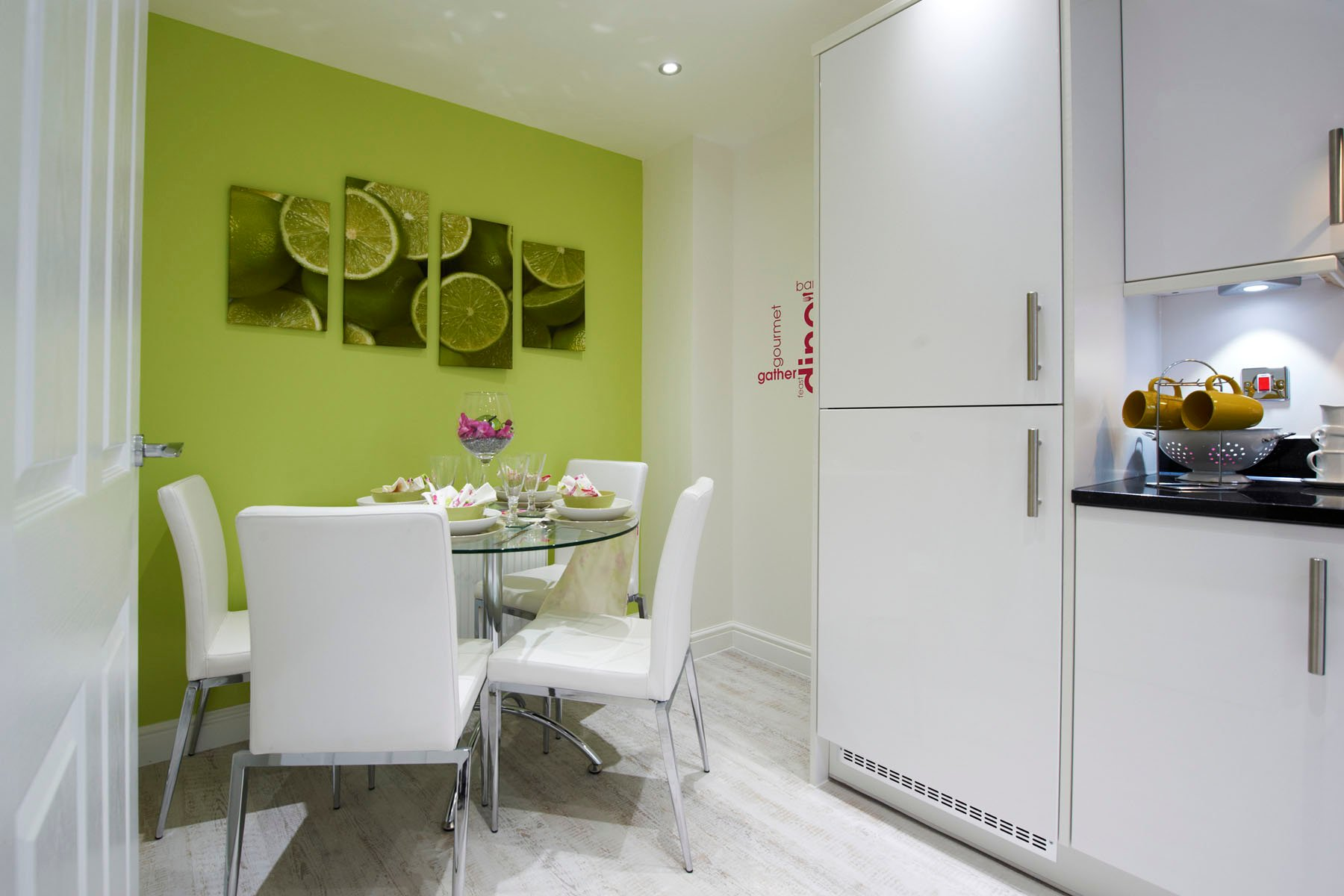 A typical Taylor Wimpey breakfast/dining area