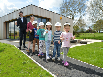 NEWS - Whaddon C of E First School receives funding from Taylor Wimpey for a new path