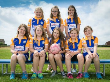 SW Netball Sponsorship at Gwaunmesisgyn School web