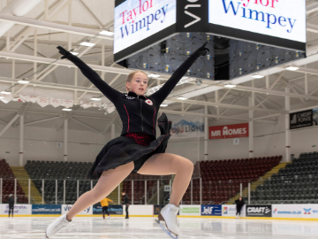 We are proud to sponsor the young talented Welsh ice skater Mollie Mai