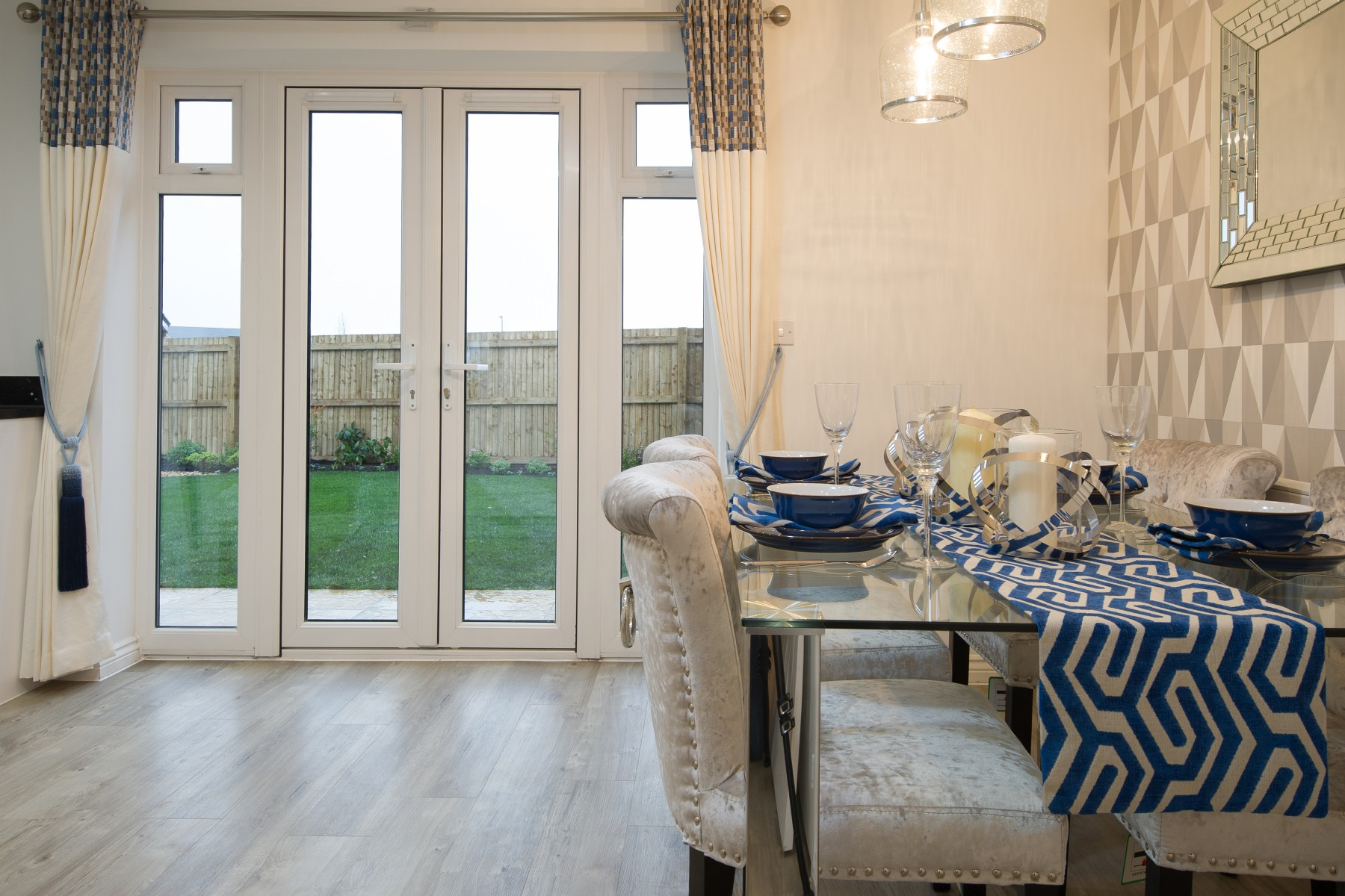 Dining area French doors