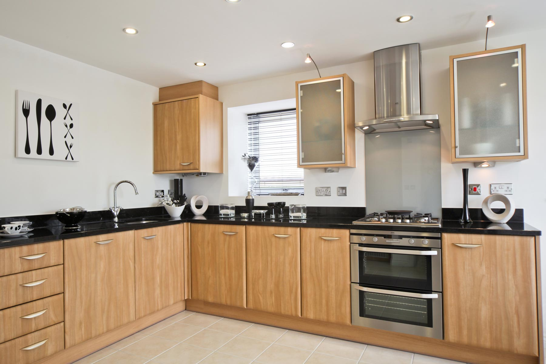Photo of the kitchen from the Kirkstone show home at Kingston Chase