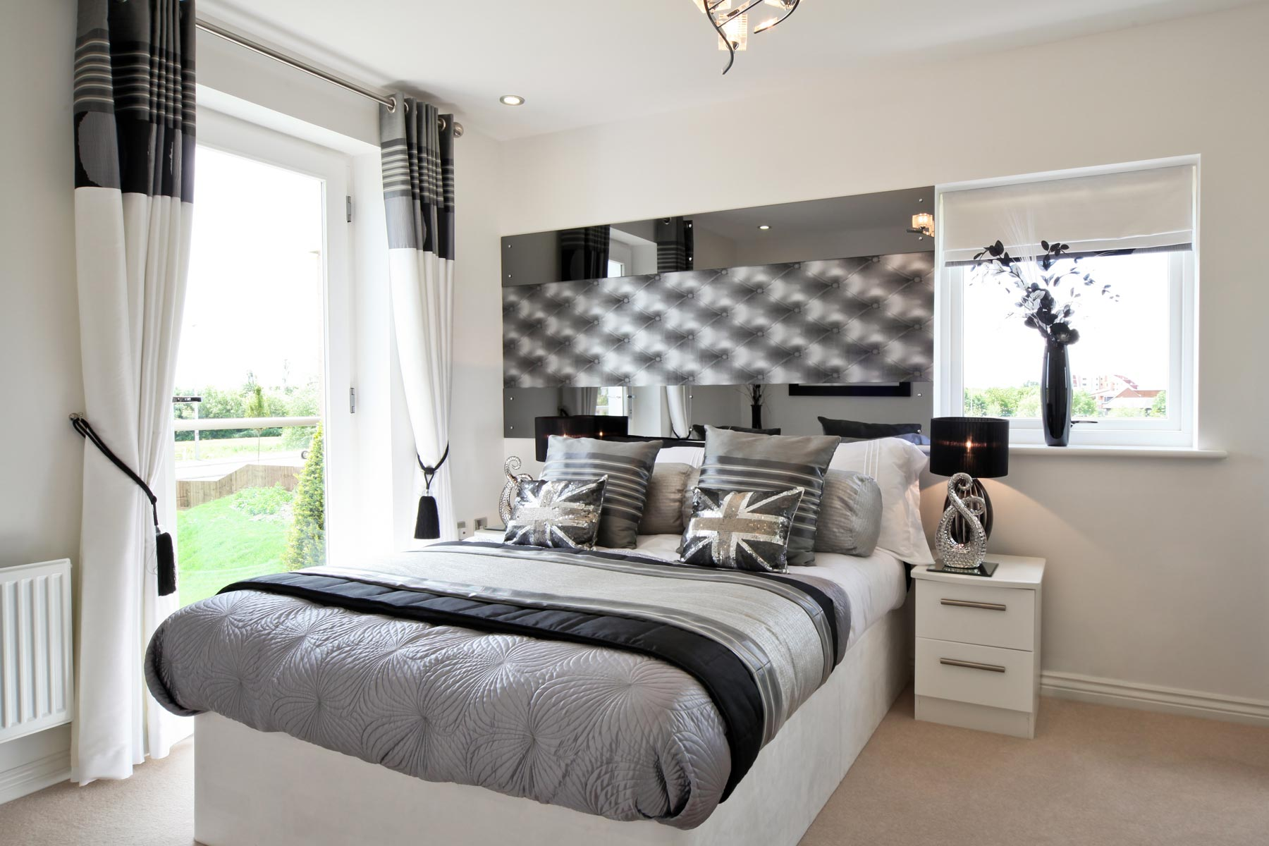 Photo of the master bedroom from the Kirkstone show home at Kingston Chase