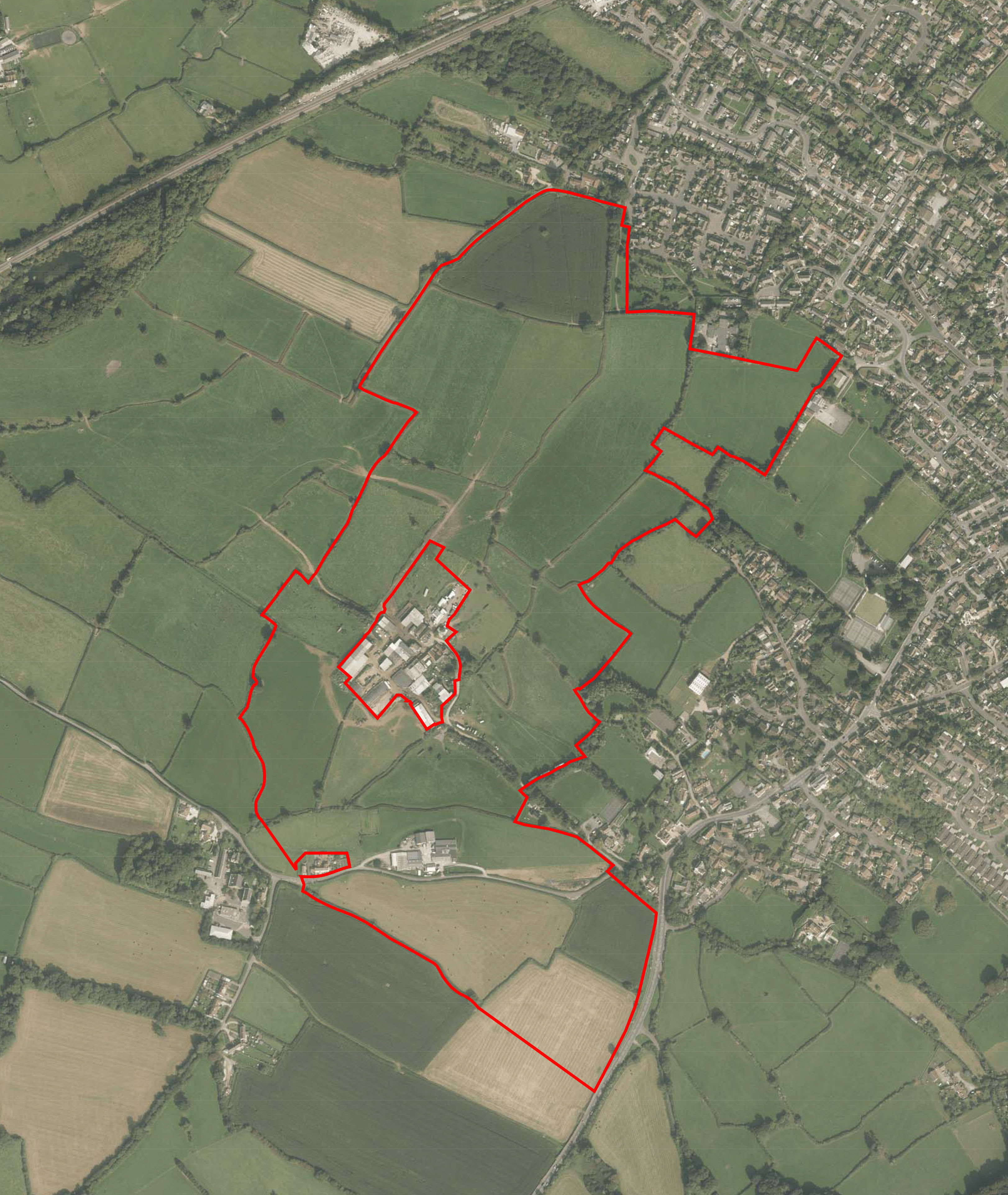 grove farm Aerial Location Plan