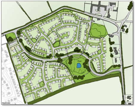 Overview - Figure 2 Approved Indicative Masterplan for 350 houses