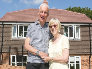ST  Roger and Joan Townsend at Taylor Wimpeys Lucastes development WEB