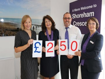 WEB  Shoreham Crescent  donation to Chestnut Tree House Chil