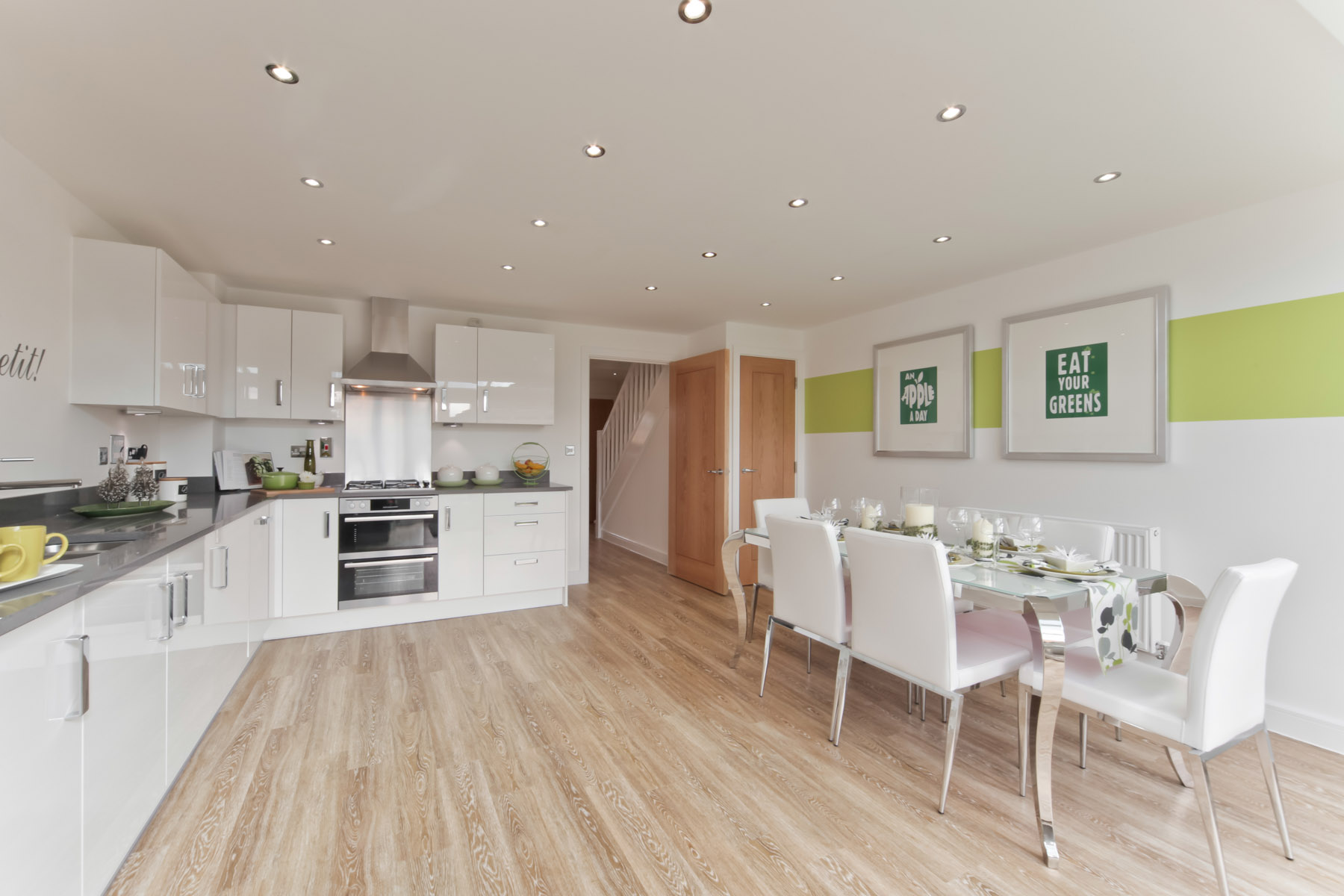 A Typical Taylor Wimpey Kitchen Dining Area