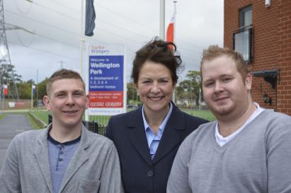 Image 1 - TWSC - Wellington Park - Anthony Eneas and Kane Bassett with TW Sales Exec Karen Walsgrove