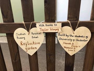 Reflective Garden Sign - web