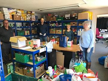 Volunteers at Romsey Foodbank - web