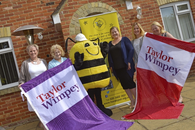 WEB  Taylor Wimpey  Kingfisher Grange  Honeypot Childrens Charity Donation