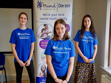Young Ambassadors from the charity Dorset Mind