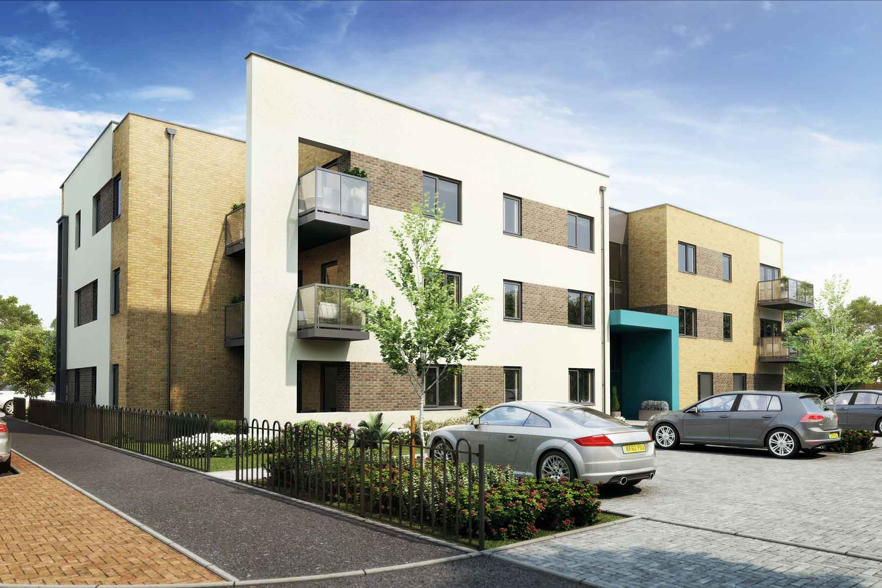 Artist's impression of Yeovilton House apartments