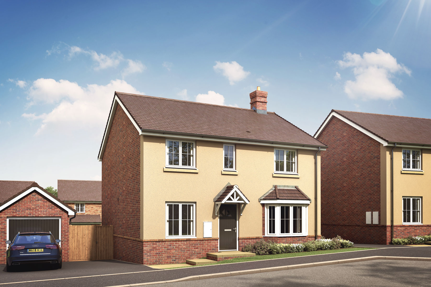 Artist's impression of a typical Shelford home