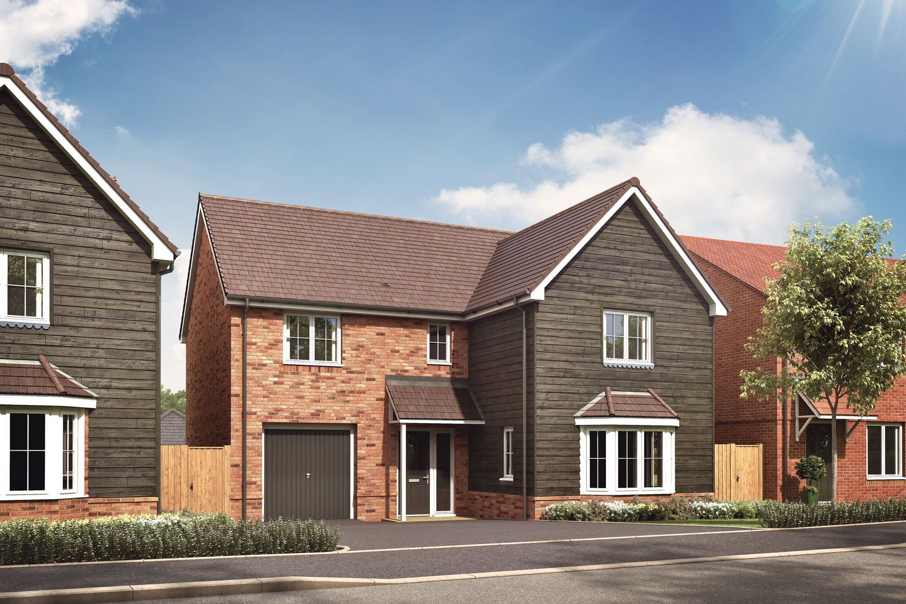 Artist's impression of a typical Fakenham home