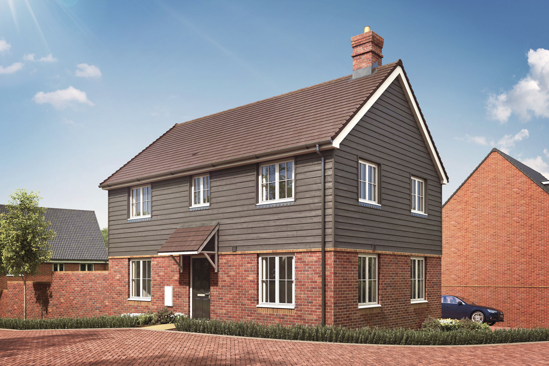 Artist's impression of a typical Chilworth home