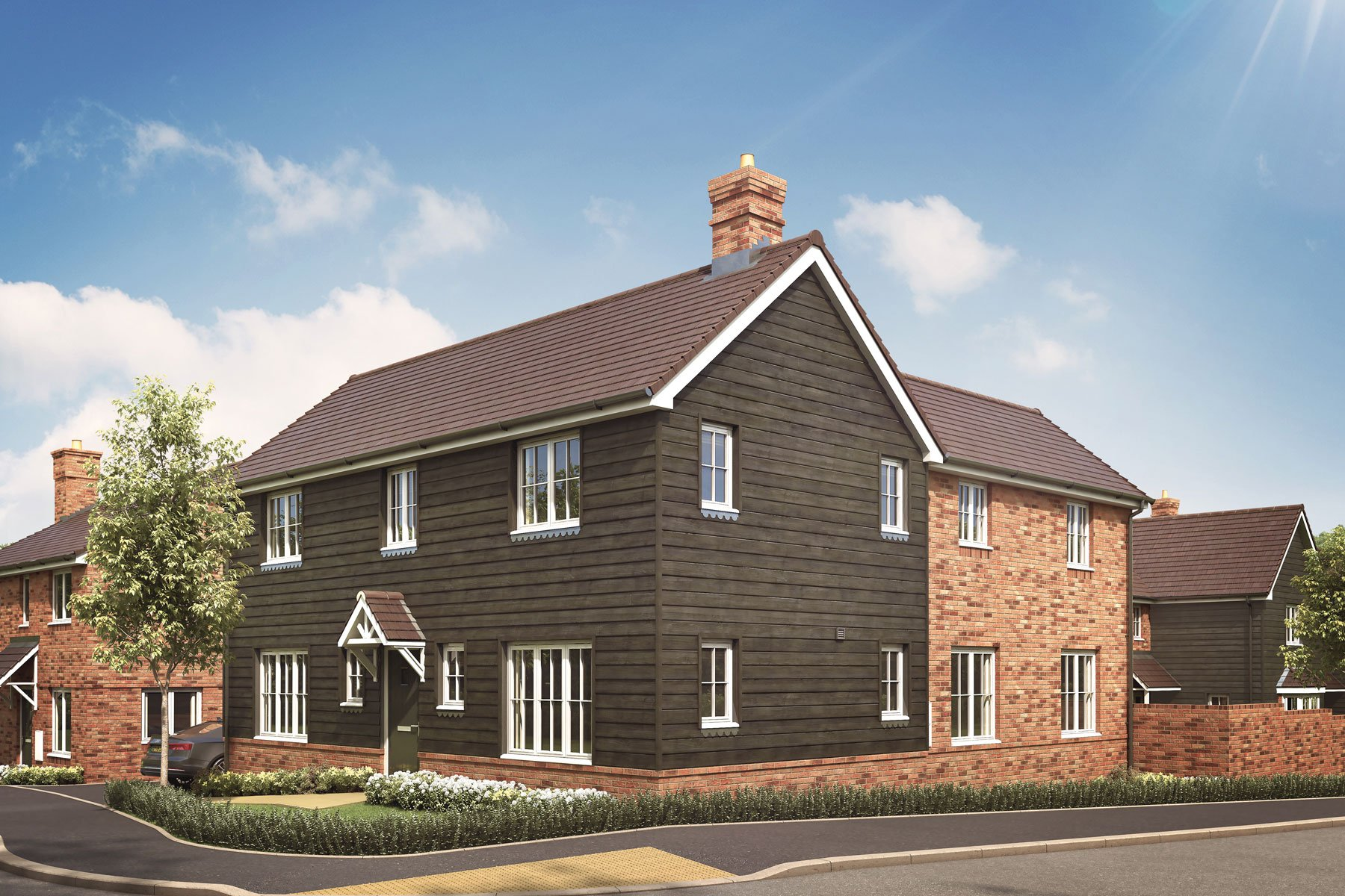 Artist's impression of a typical Langdale home
