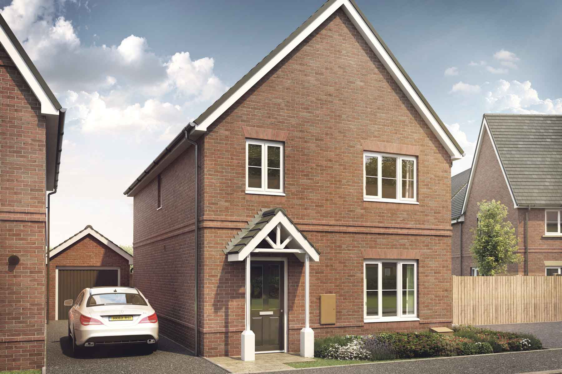 Artists impression of a typical Huxford home