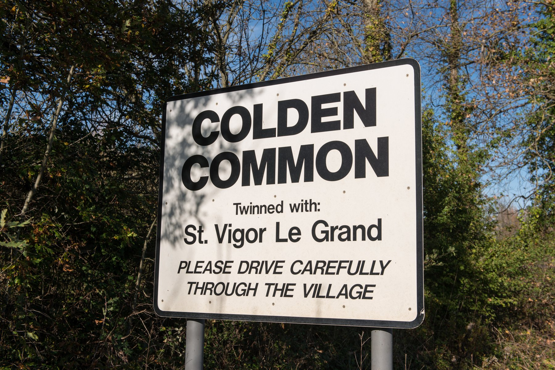 Colden Common Sign
