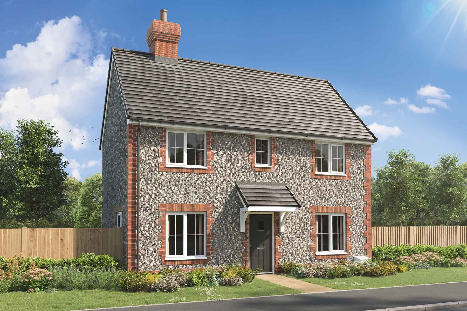Artist's impression of a typical Yewdale home