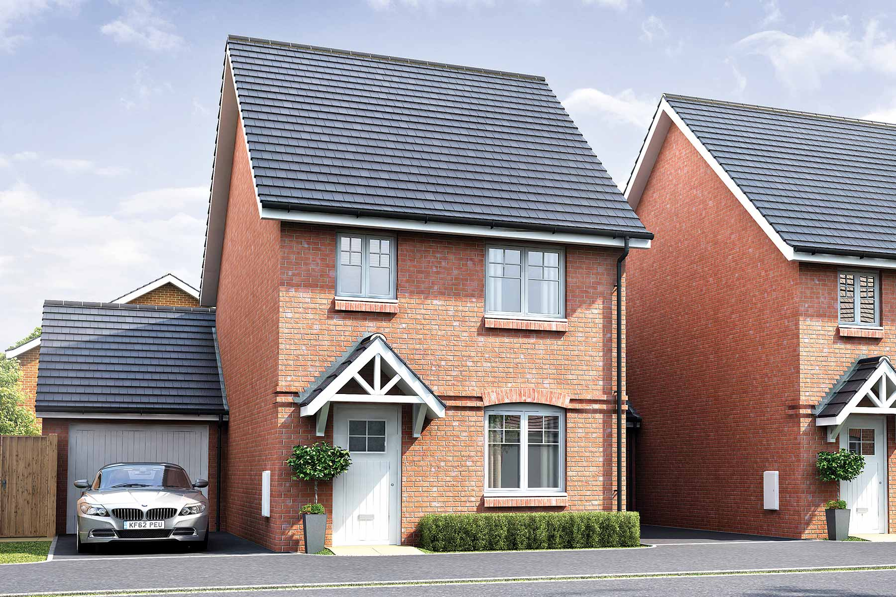 Artists impression of typical Flatford home