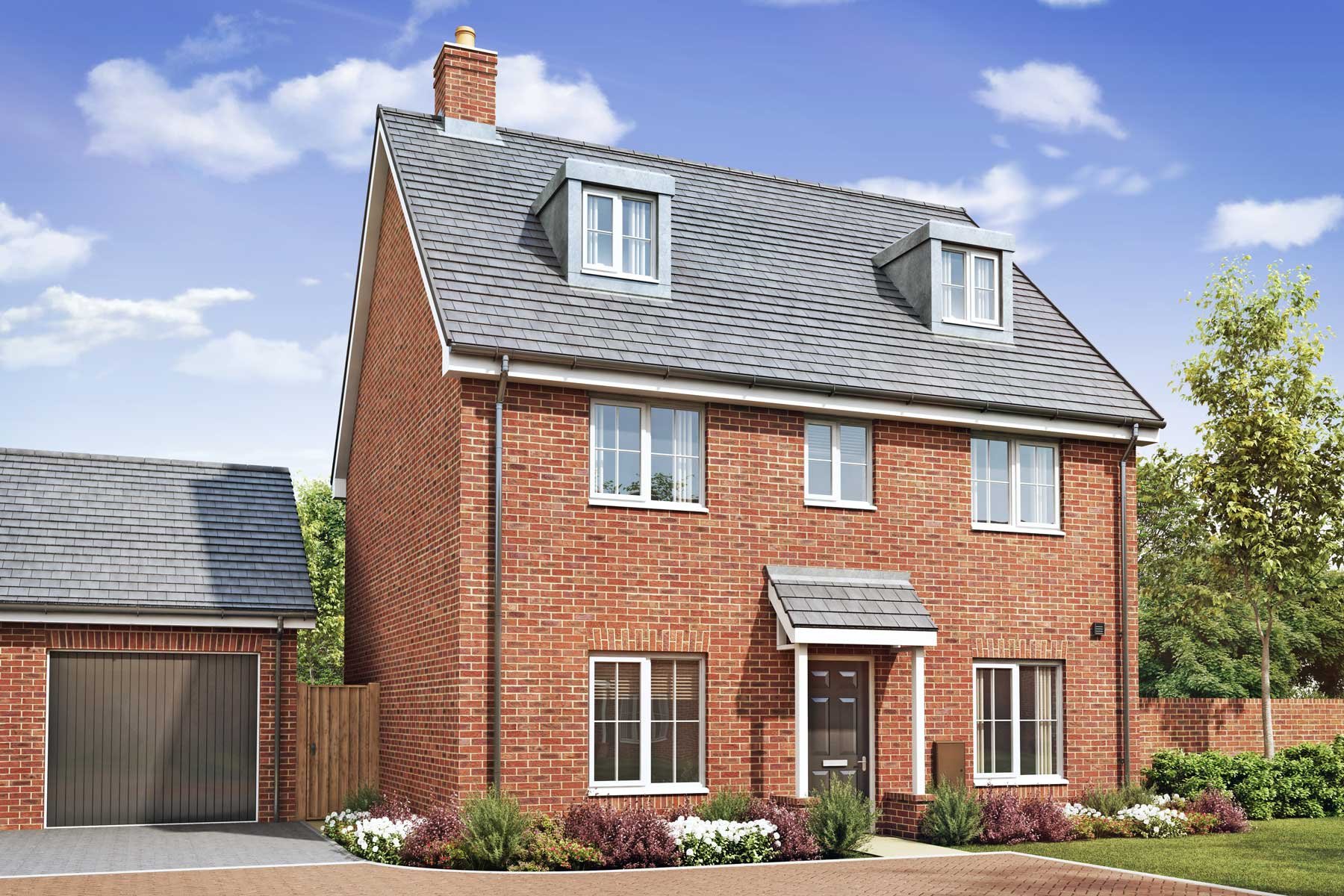 Artist's impression of a typical Felton home