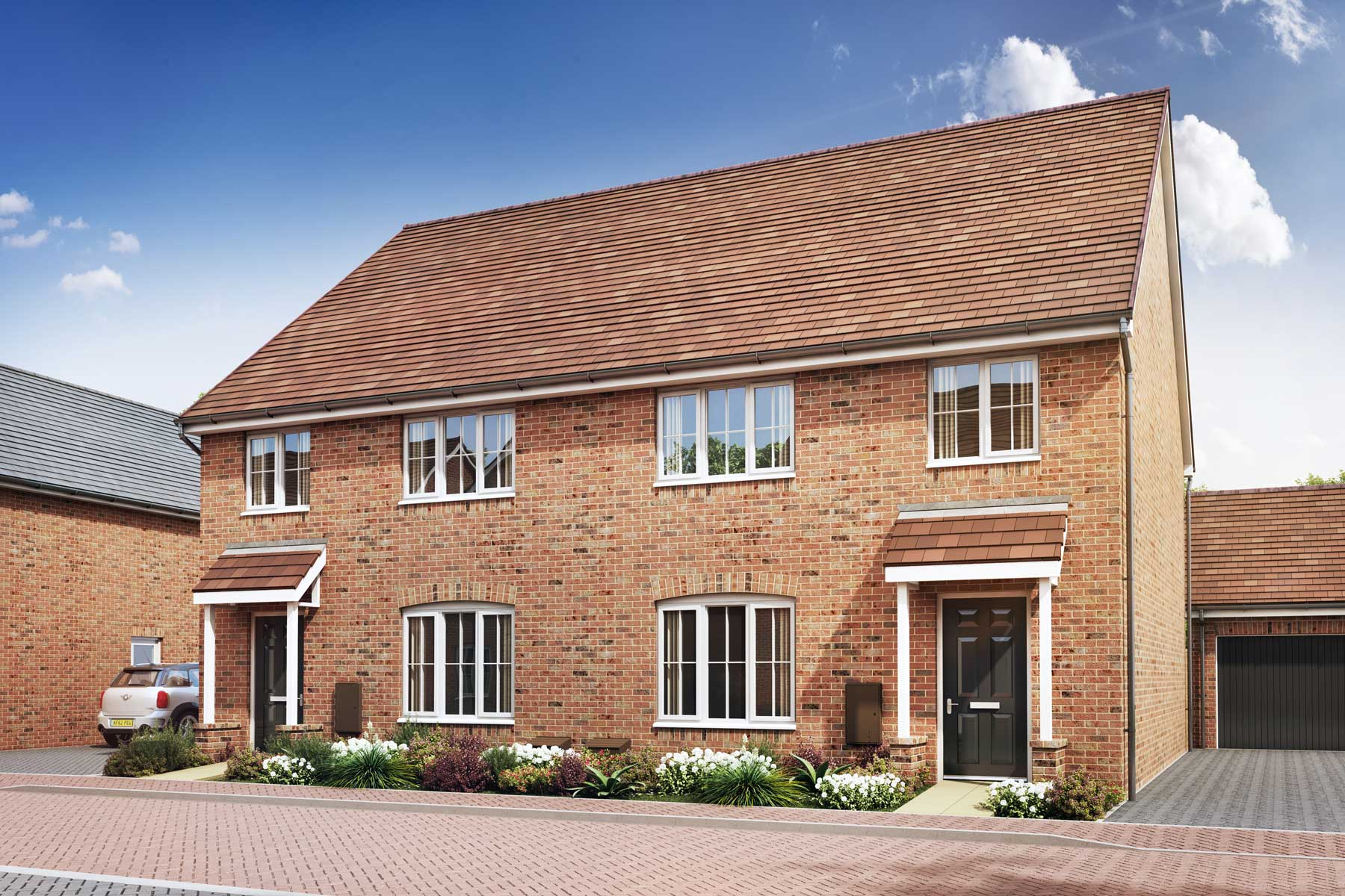 Artist's impression of a typical Midford home