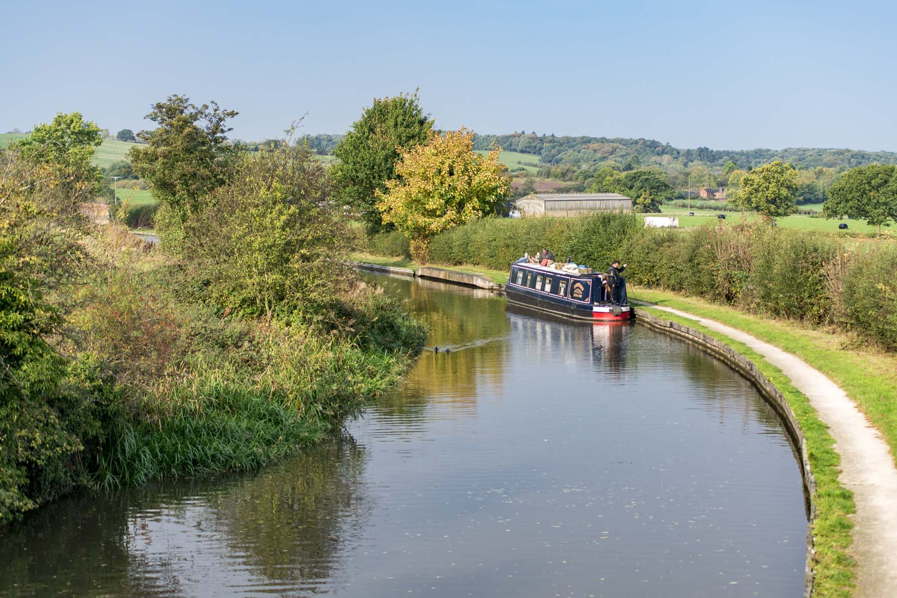 RibbonFields - narrow boat