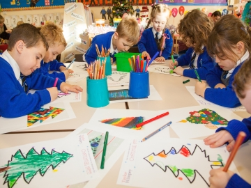 Y - Rothwell St Marys-Christmas tree drawings