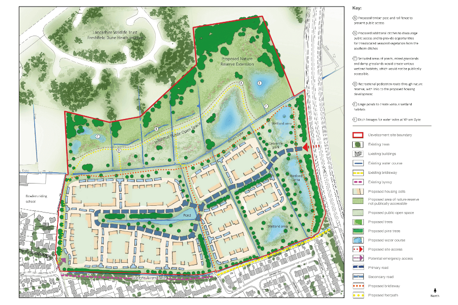 Proposed masterplan for Land at Brackenway, Formby'