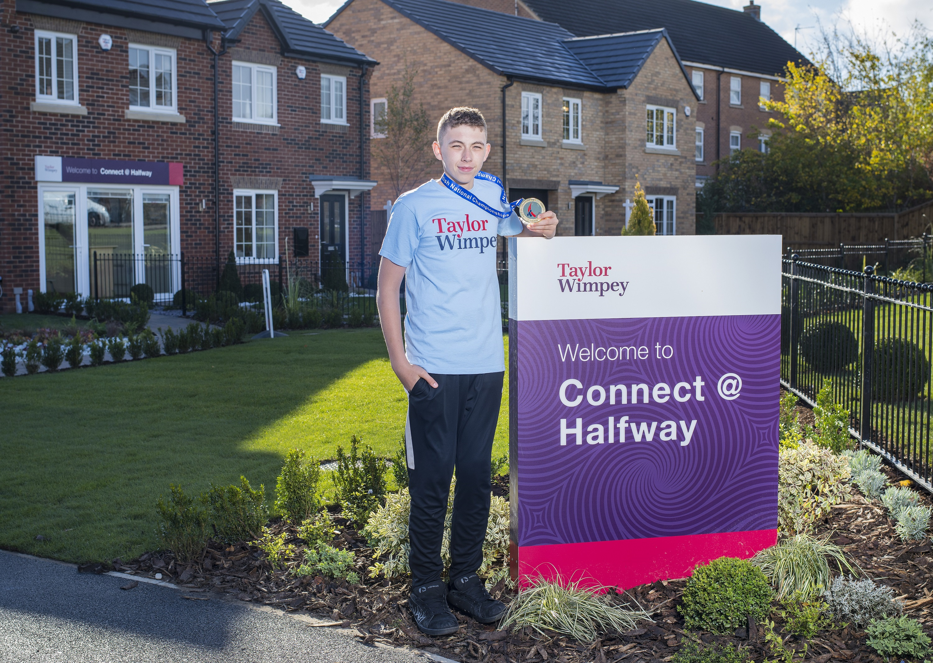 Zak Lambert visited Taylor Wimpeys Connect at Halfway development