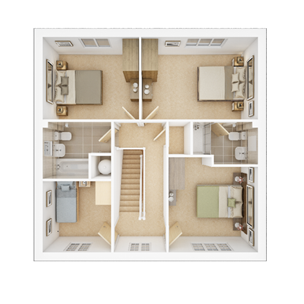 TWY - Foxley Meadows - Floorplans - Downham-FF