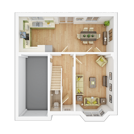 TWY - Foxley Meadows - Floorplans - Downham-GF