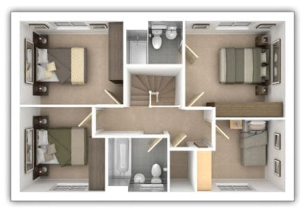Taylor Wimpey - The Eskdale - 4 bedroom first floor plan