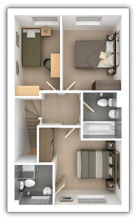 Taylor Wimpey - Pipers Green - The Gosford - First floor plan