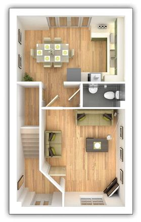 Taylor Wimpey - Pipers Green - The Gosford - Ground floor plan