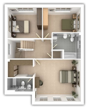 Taylor Wimpey - Pipers Green - The Whitmoore - First floor plan