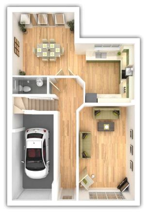 Taylor Wimpey - Pipers Green - The Whitmoore - Ground floor plan