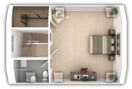 Pipers Green - The Whitmoore - Second floor plan