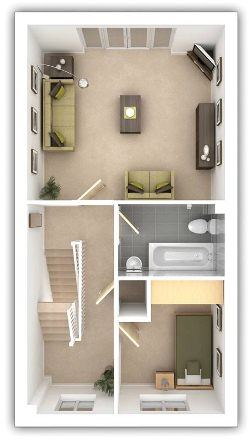 Taylor Wimpey - The Ellerby - 4 bedroom first floor plan