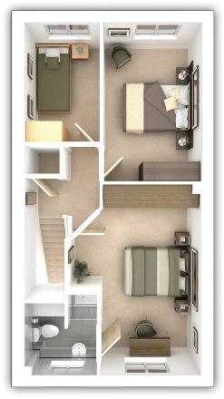 Taylor Wimpey - The Ellerby - 4 bedroom second floor plan