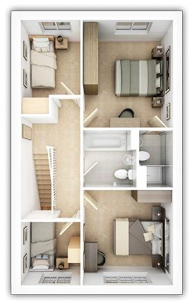 Taylor Wimpey - The Lydford - 4 bedroom first floor plan