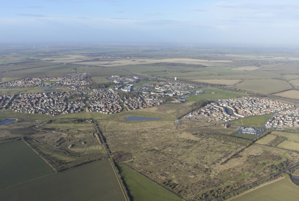 Cambourne view from the sky