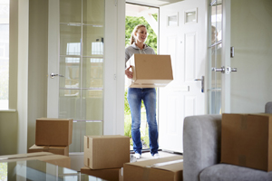 Woman moving into a Taylor Wimpey home