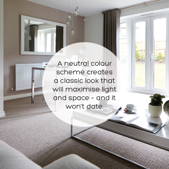 Maximise light and space with a neutral colour scheme