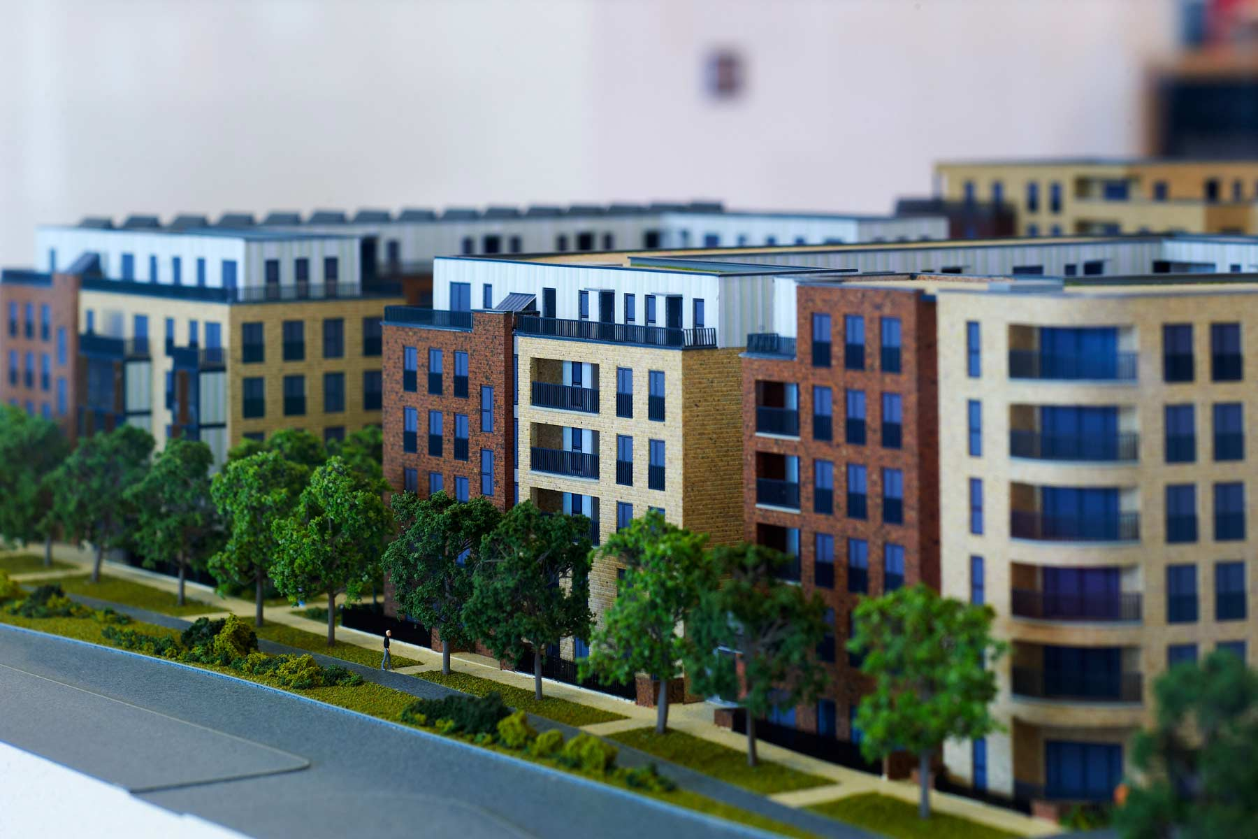 Artist impression of Reflections. Scale Model