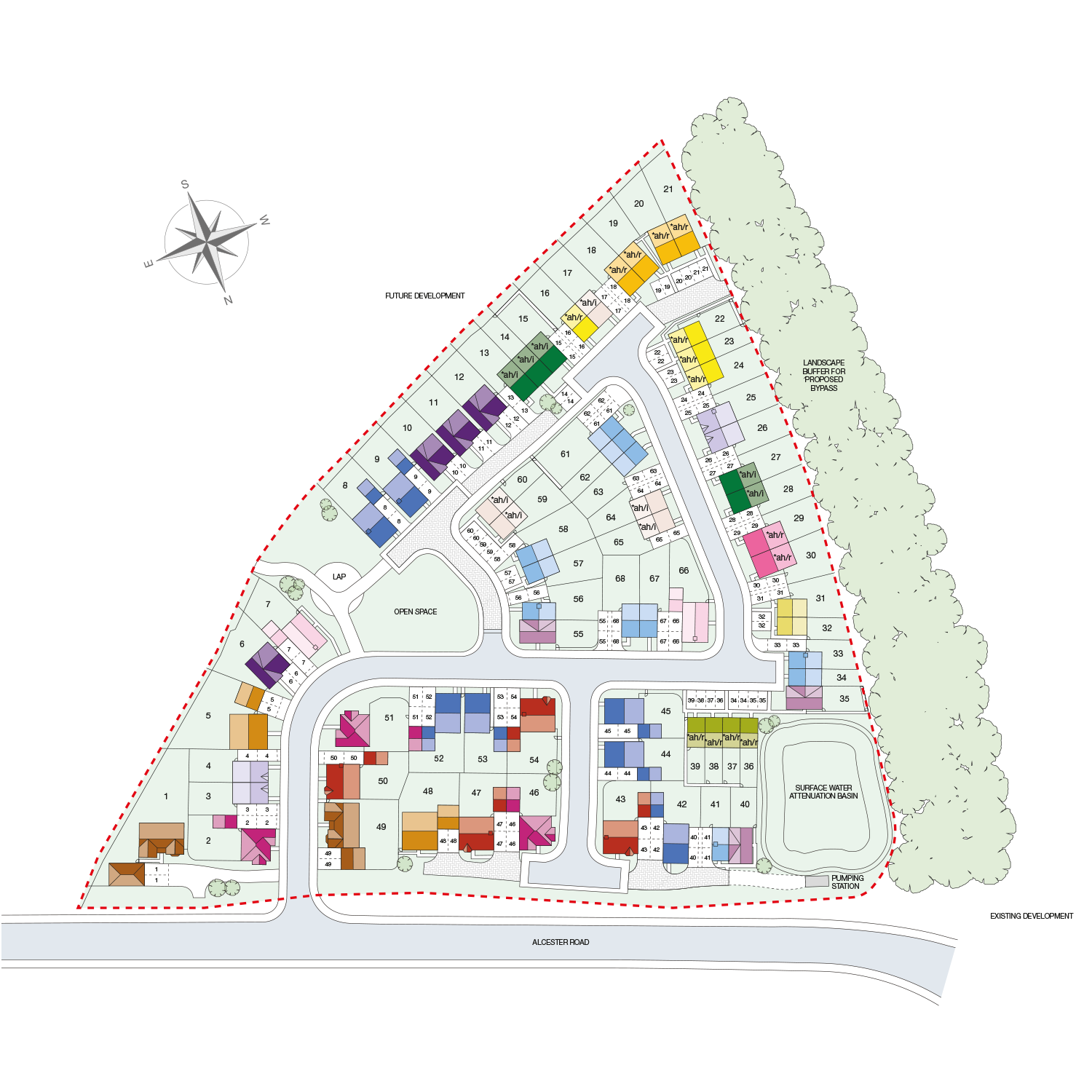 Taylor Wimpey - new homes development layout - Midsummer Park - Site Plan
