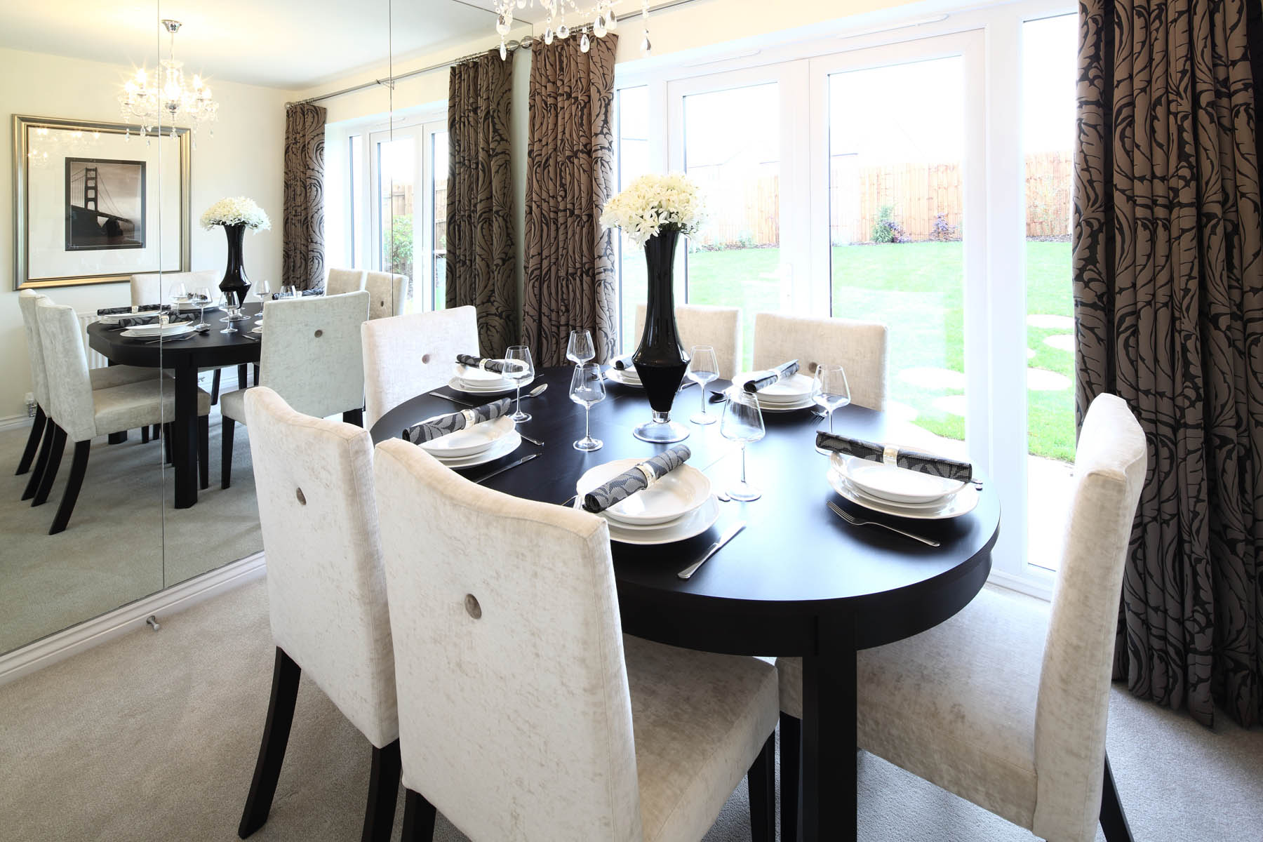 Dining room with French doors to the rear garden