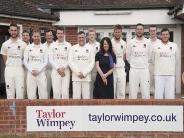 Tenterden Cricket Club with Taylor Wimpey Sales Executive Ella Bishop WEB